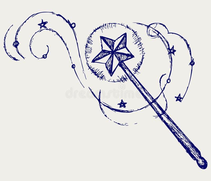 Bacchetta magica illustrazione vettoriale