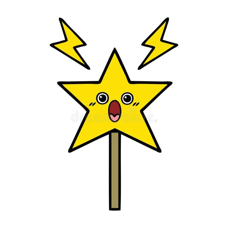 bacchetta magica del fumetto sveglio royalty illustrazione gratis