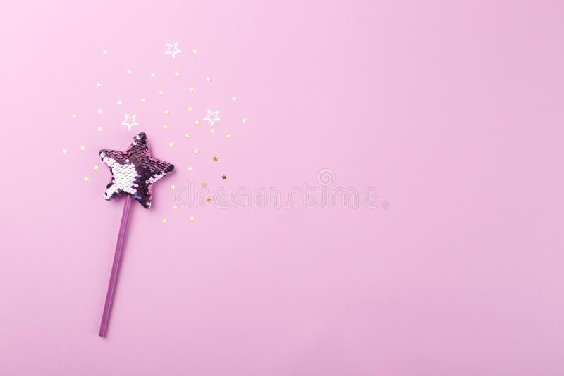 Bacchetta magica scintillante fotografia stock