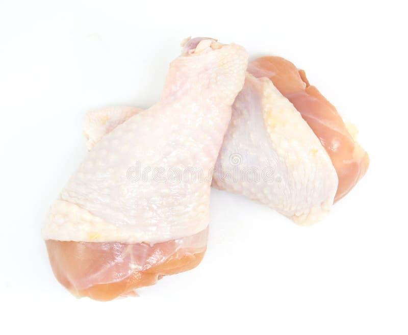 Bacchette di pollo fresche isolate fotografia stock libera da diritti
