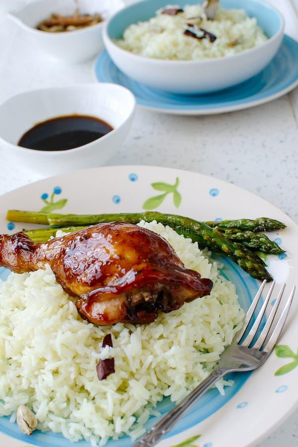 Bacchette di pollo di Teriyaki fotografie stock libere da diritti