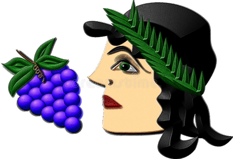 Bacchus or Dionysus vector illustration