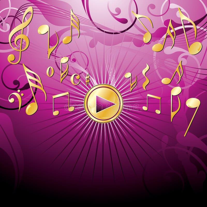 bacground音乐粉红色 皇族释放例证