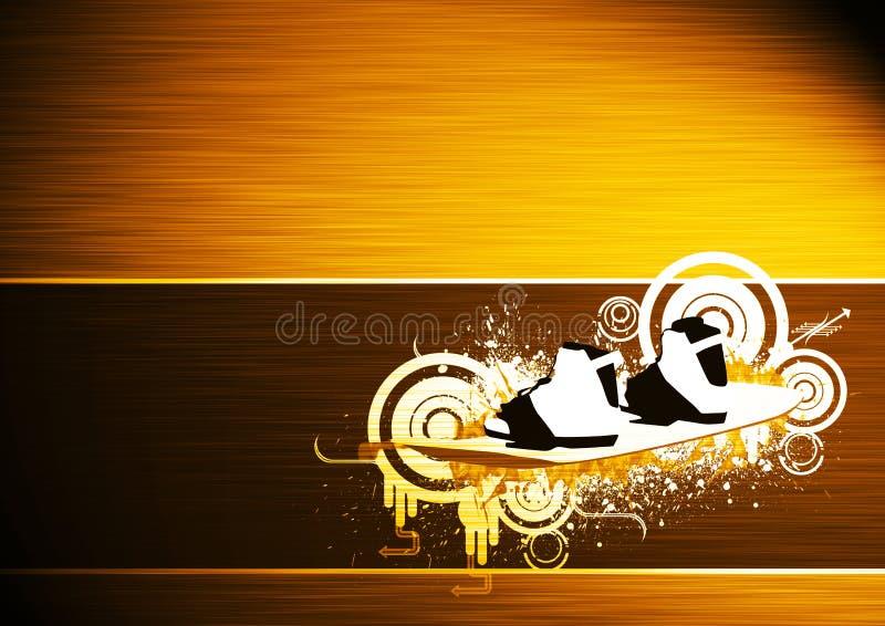 Bacground змея и Wakeboard Стоковые Изображения