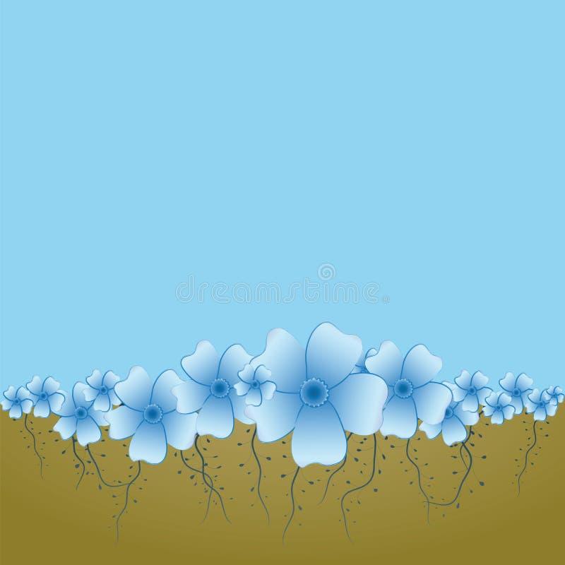 Bacground com flores ilustração stock