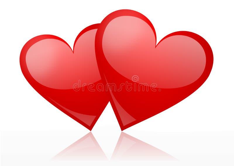 Bacground de las tarjetas del día de San Valentín ilustración del vector