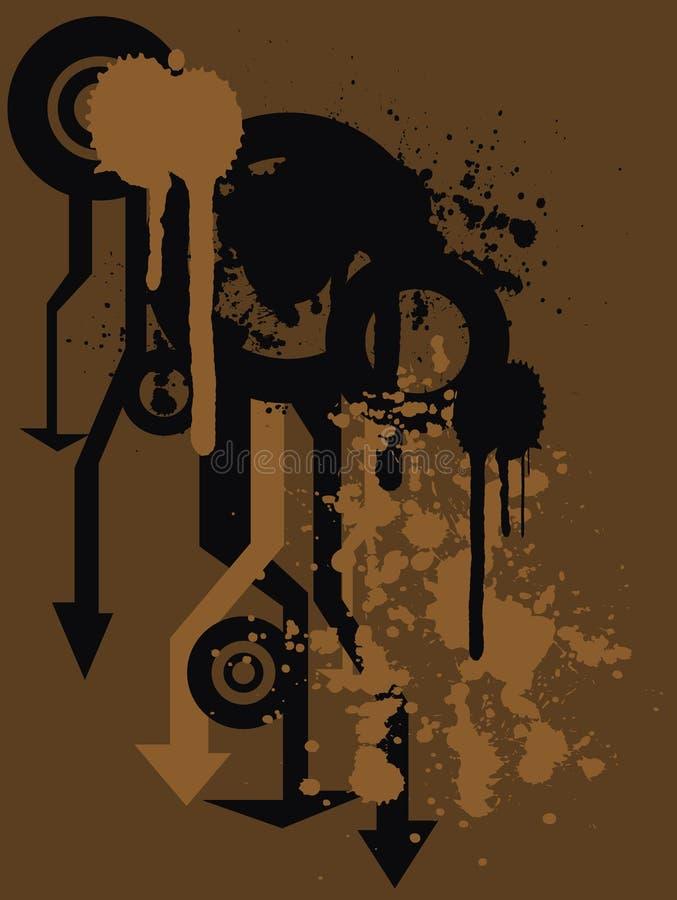 Bacground di Grunge illustrazione vettoriale
