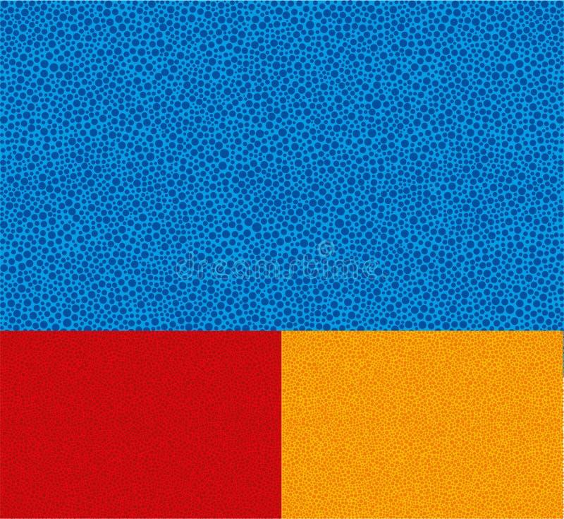Bacground dos pontos Textura de Symple Tr?s cores editable ilustração stock