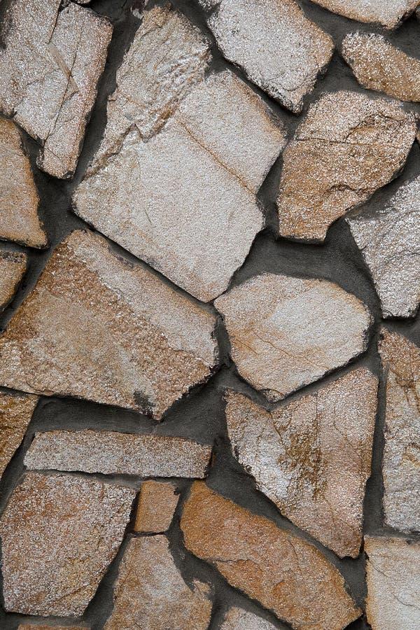 Bacground eller textur för sten för vitbrunttegelplatta arkivbilder