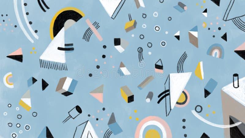 Bacground för full skärm för konstnärlig abstrakt hand utdragen arkivbild