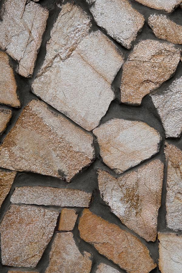 Bacground o textura marrón blanco de la piedra de la teja imagenes de archivo