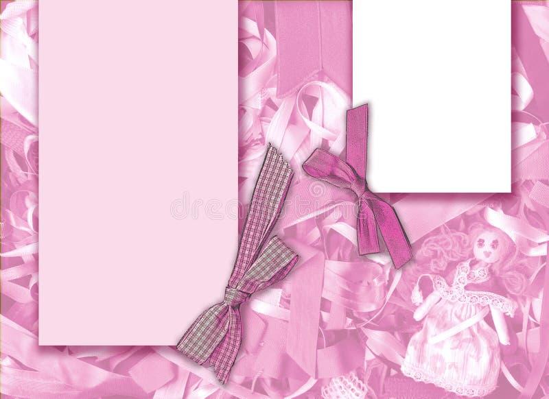 Bacground rosado stock de ilustración