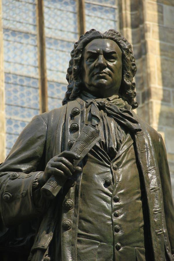 Bach-Monument in Leipzig, Deutschland stockfotografie