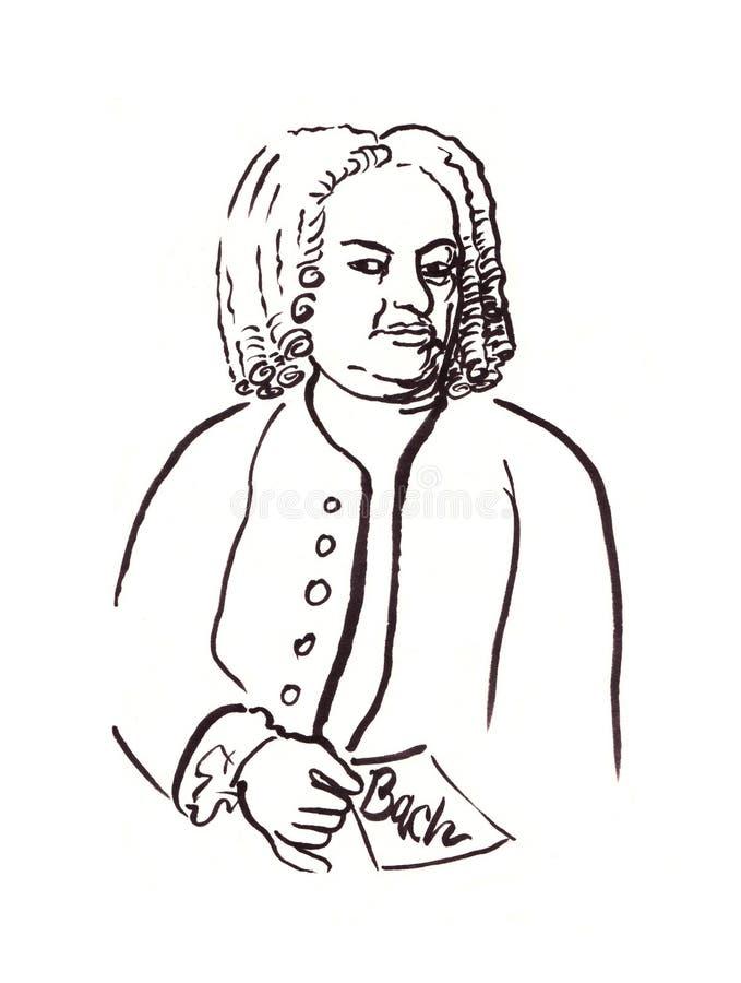 Bach stock illustration