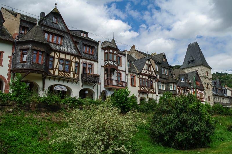 Bacharach, Γερμανία - 9 Ιουλίου 2011: Μεσαιωνικό χωριό Bacharach Τ στοκ εικόνα