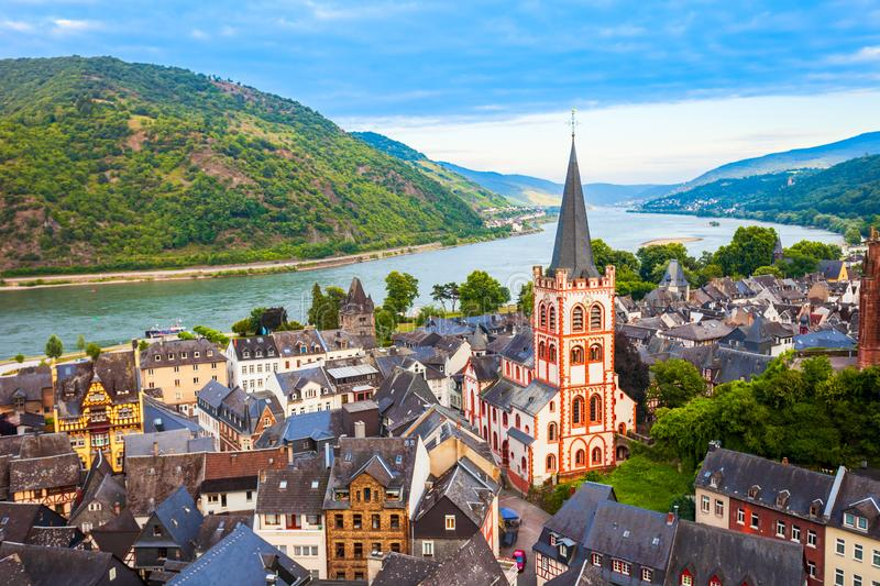 Bacharach old town in Germany stock photography