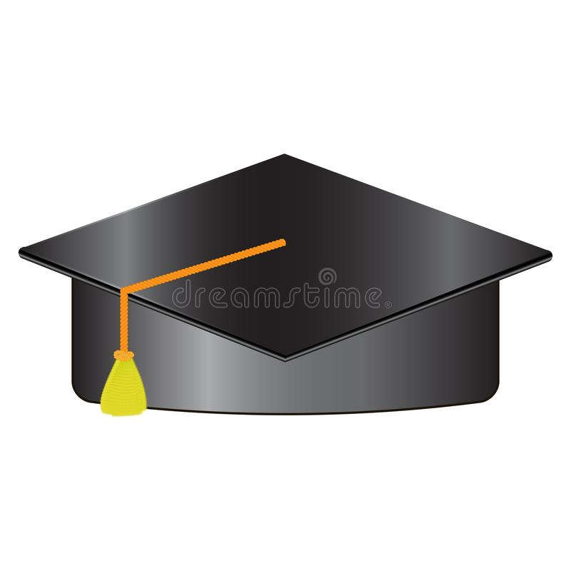 Bachelor hat isolated on white background vector illustration.  vector illustration