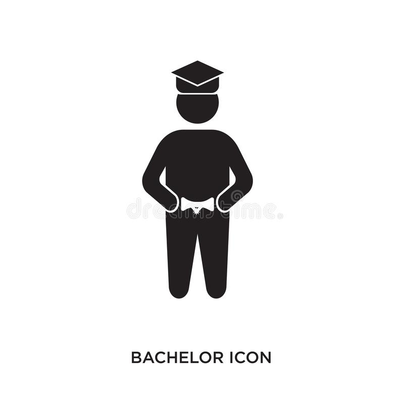 Bachelor icon. Isolated on white background,flat vector illustration can be used for web, mobile and print vector illustration