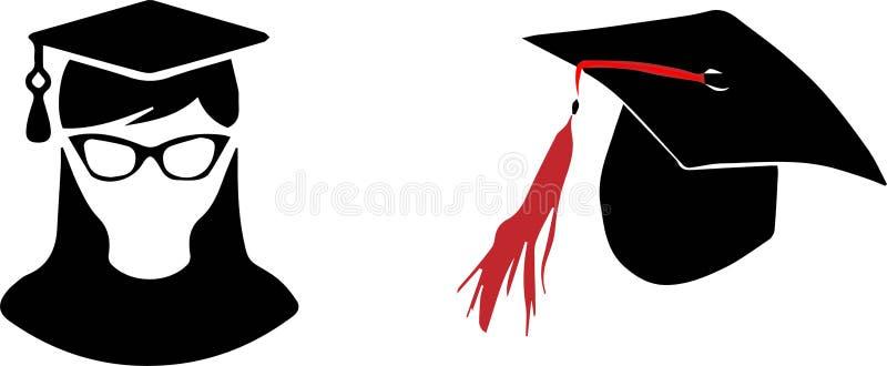 Bachelor icon on white background stock illustration