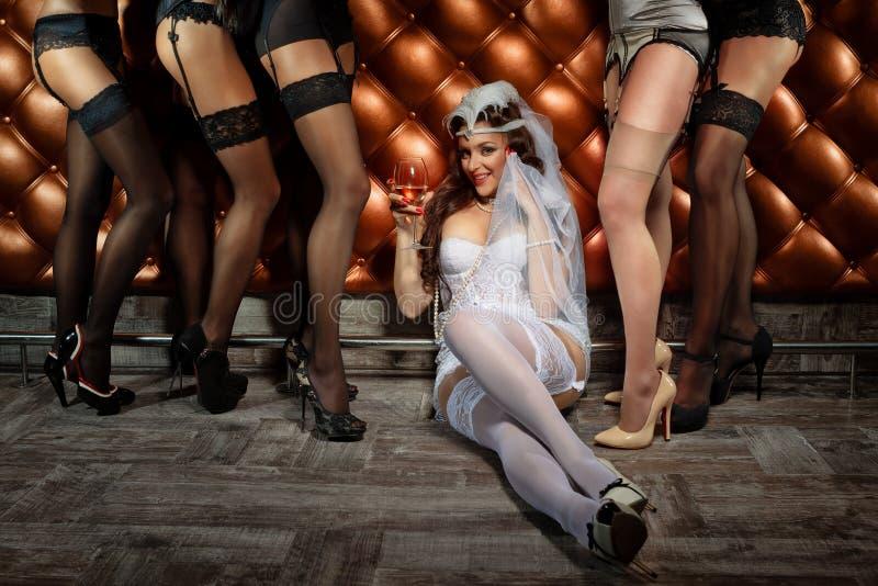 Bachelorette przyjęcie fotografia stock