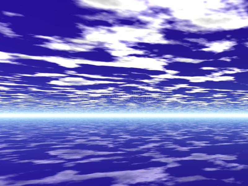 bachground天空 向量例证