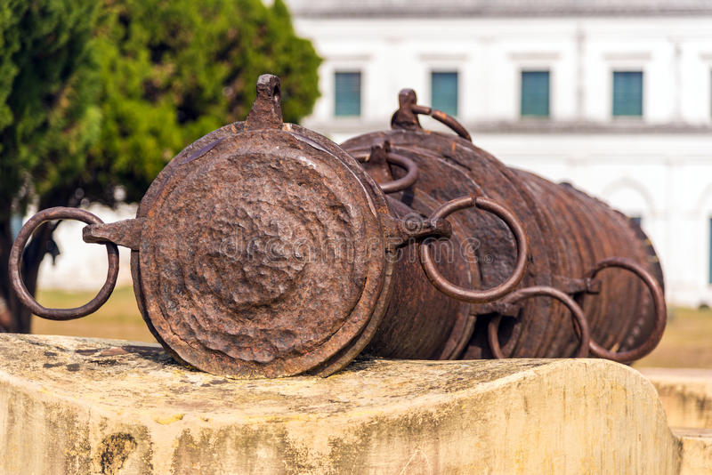 Bachhawali Tope cannon. The famous Bachhawali Tope cannon at Hazarduari palace near Nizamat fort in Murshidabad, India stock photography