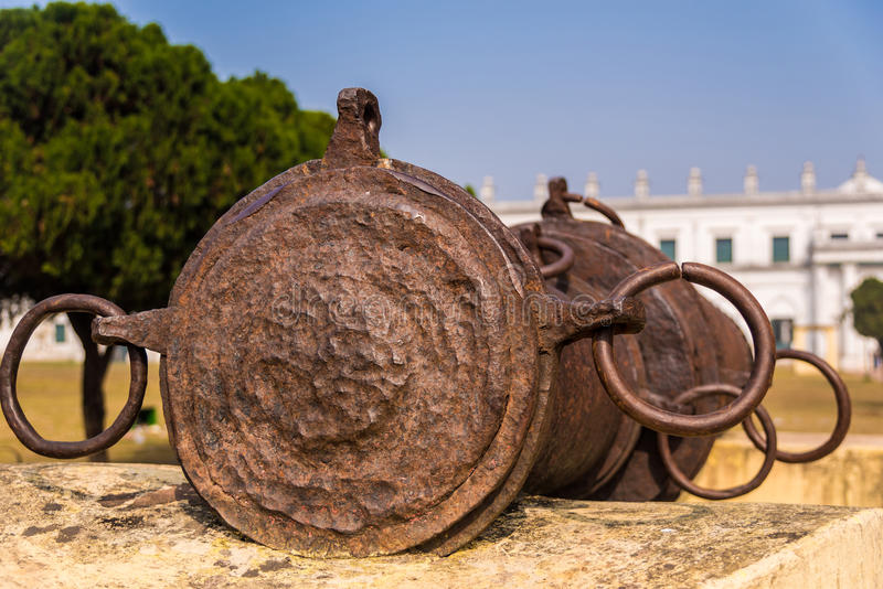 Bachhawali Tope cannon. The famous Bachhawali Tope cannon at Hazarduari palace near Nizamat fort in Murshidabad, India royalty free stock image