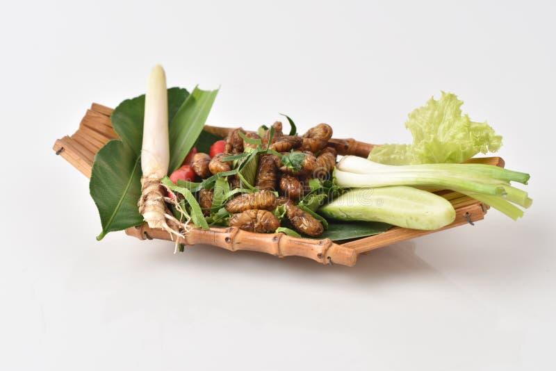 Download Bachi da seta fritti immagine stock. Immagine di verdure - 56879789