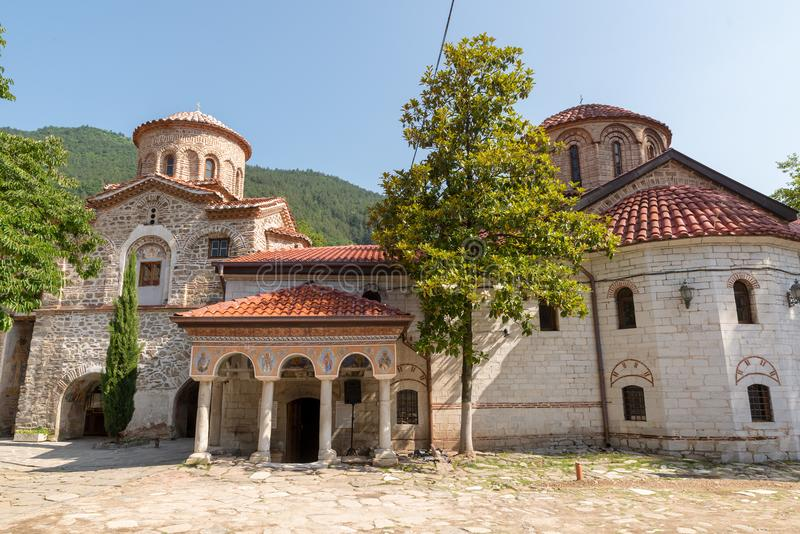 Bachkovo Monastery. BULGARIA - JUNE 7, 2018: The  is an important monument of Christian architecture and one of the largest and oldest Eastern Orthodox stock images