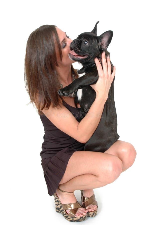 Baci del Doggy fotografia stock