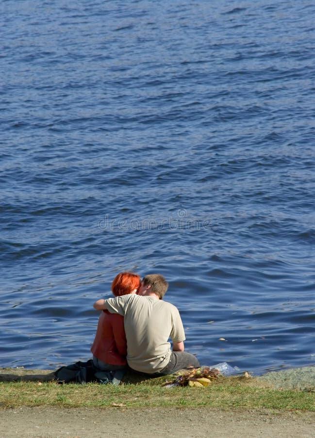 Baci sul litorale immagini stock libere da diritti