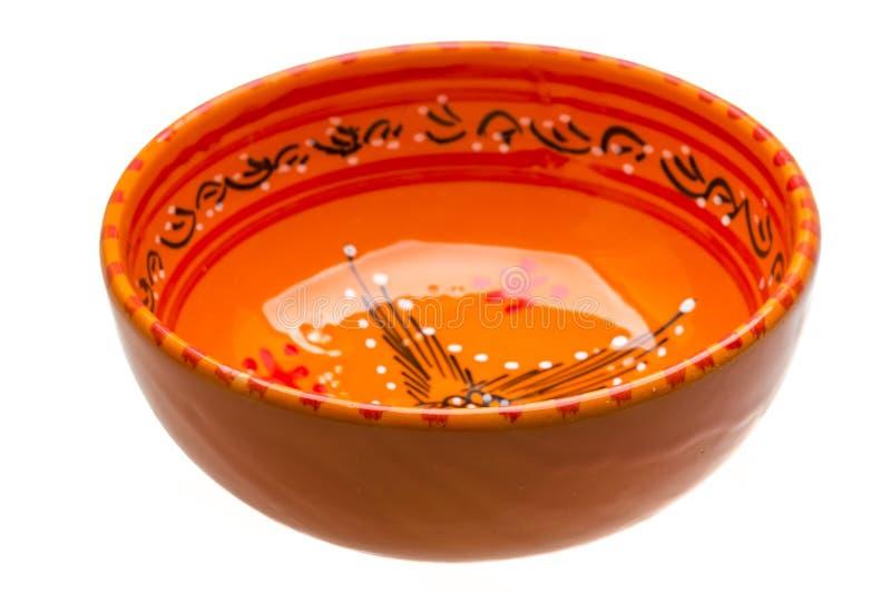 Bacia cerâmica vazia imagens de stock