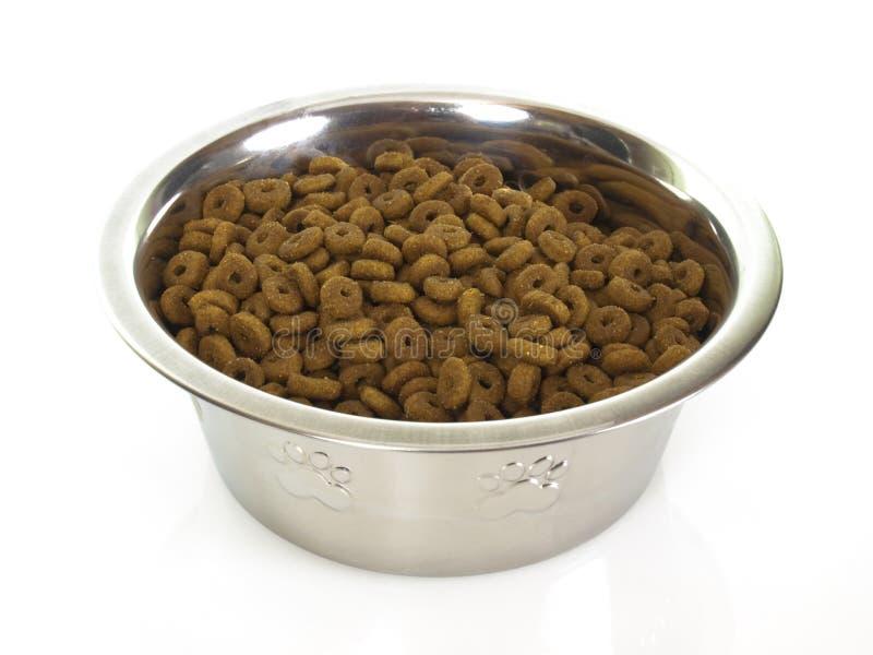 Bacia com alimento de gato fotos de stock royalty free