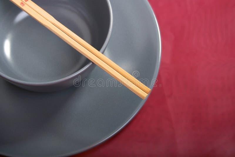 Bacia com hashis fotografia de stock