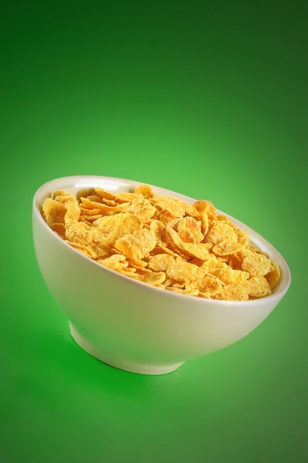 Bacia com cornflakes foto de stock