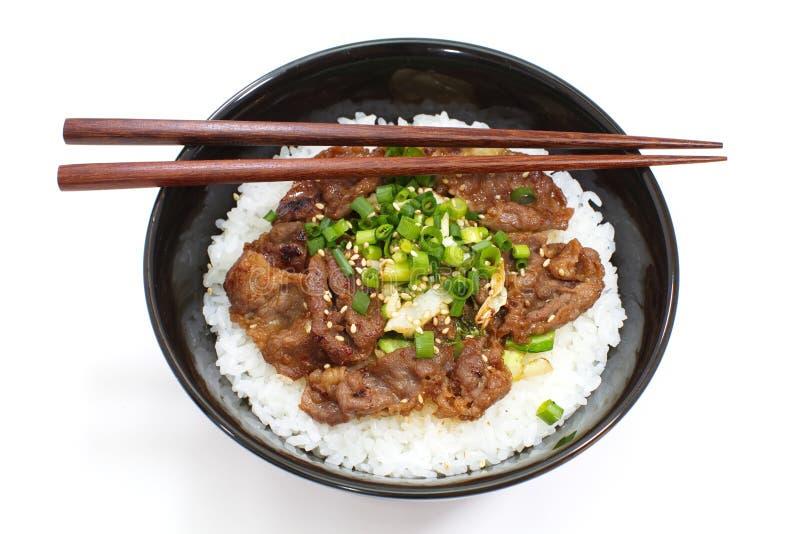 Bacia da carne, alimento japonês imagem de stock royalty free