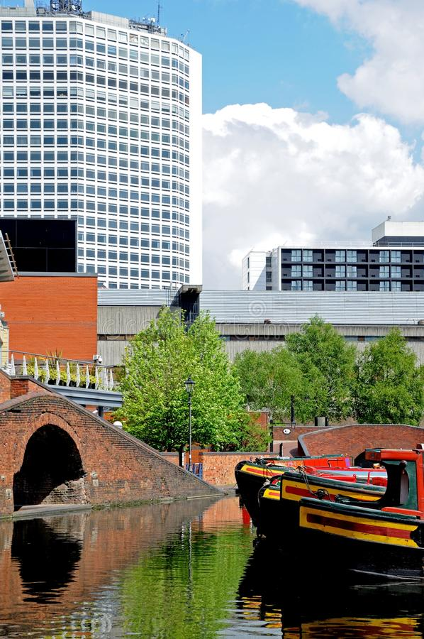 Bacia da rua do gás, Birmingham fotos de stock royalty free