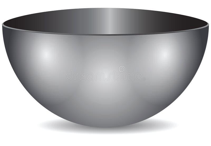 Bacia de aço ilustração do vetor