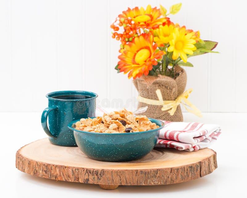 Bacia de cereal de pequeno almoço fotografia de stock royalty free