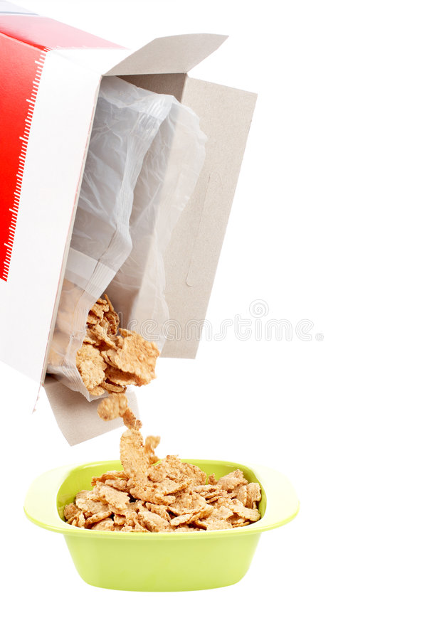 Bacia de cornflakes fotos de stock royalty free