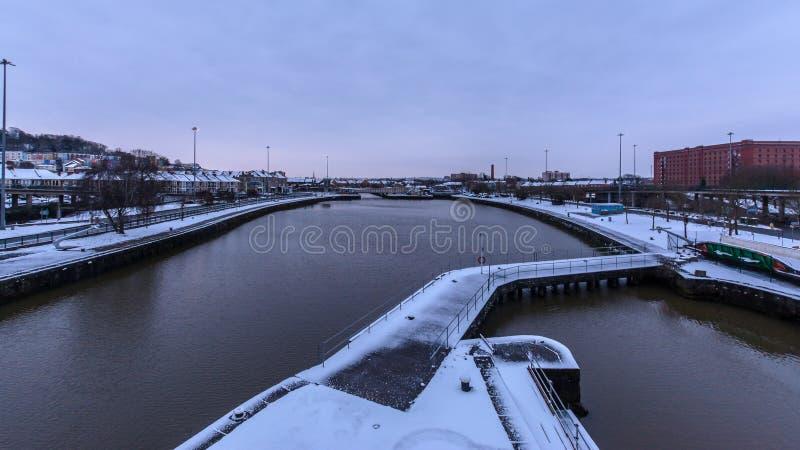 Bacia de Cumberland coberta na neve B fotografia de stock