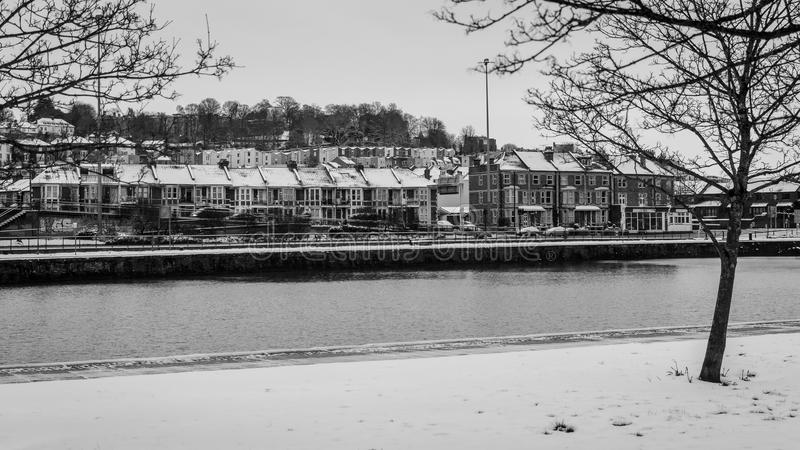 Bacia de Cumberland durante o dia da neve do inverno imagem de stock royalty free