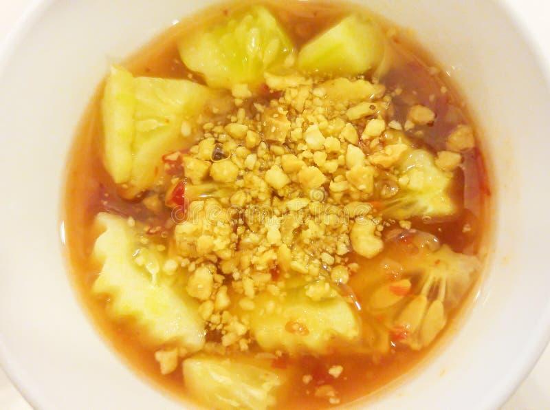 Bacia de doce tailandês Chili Sauce do estilo imagem de stock