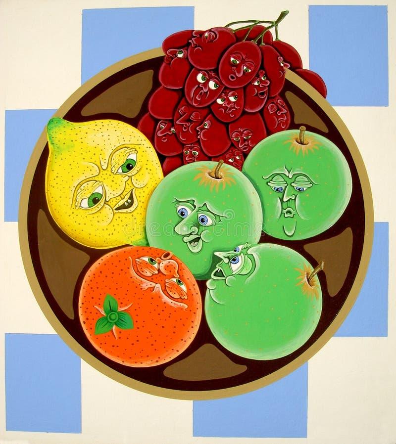 Bacia de fruta ilustração royalty free