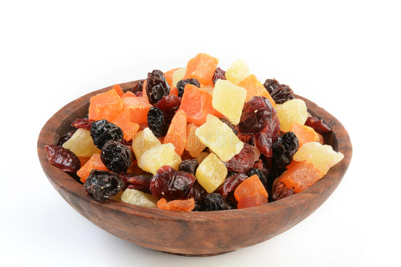 Bacia de frutos secos imagens de stock royalty free