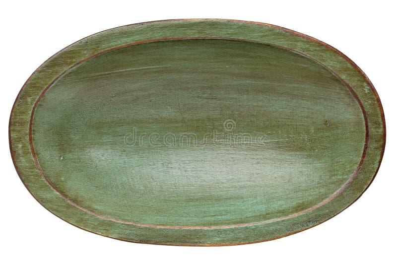 Bacia de madeira da massa de pão do trencher fotografia de stock