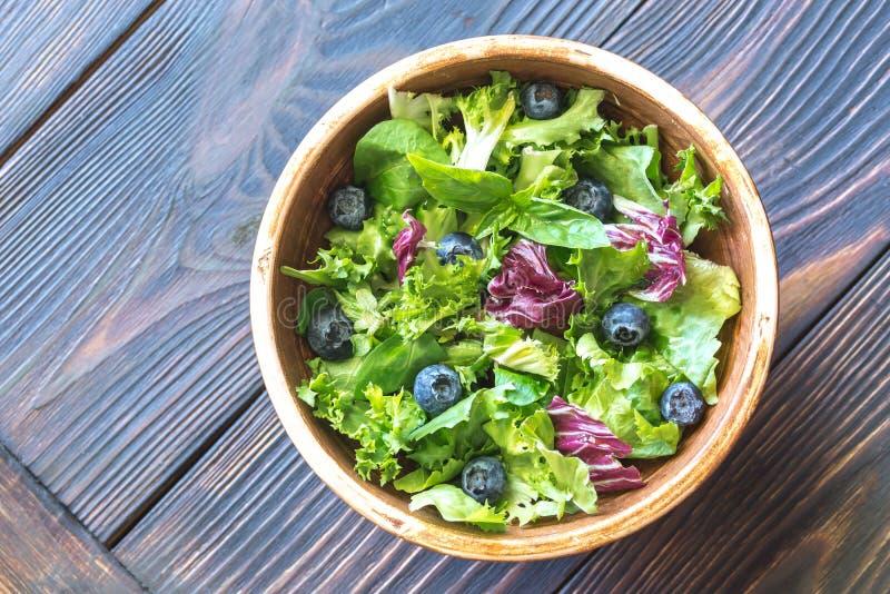 Bacia de mistura da salada fotos de stock royalty free