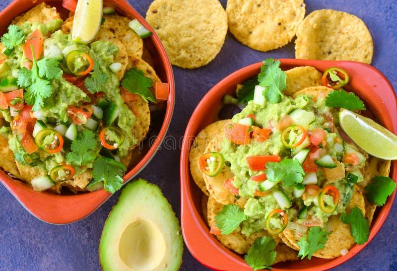 Bacia de nachos fotografia de stock