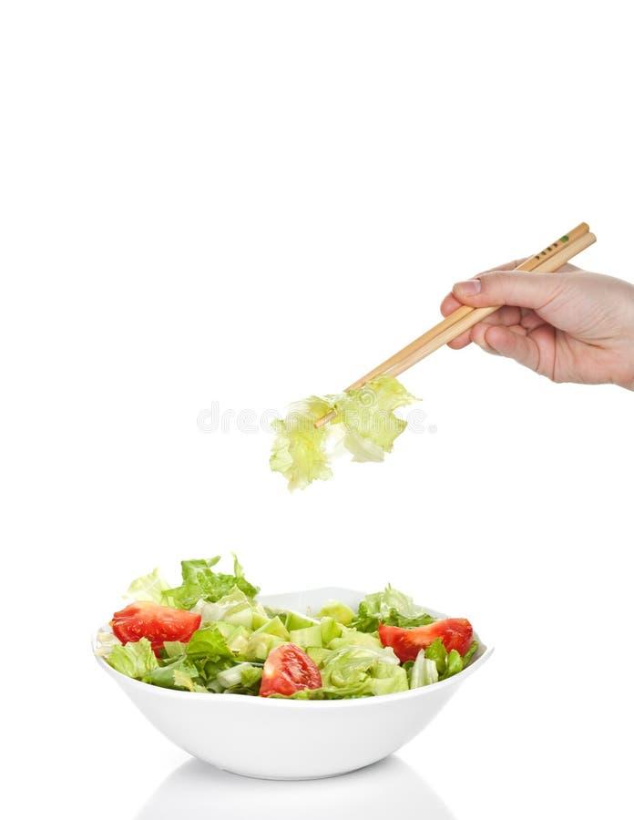 Bacia de salada fresca foto de stock