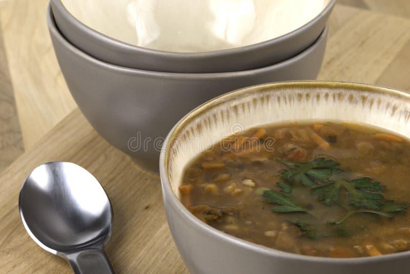 Bacia de sopa imagem de stock